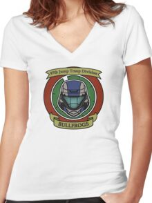 The Bullfrogs Insignia Women's Fitted V-Neck T-Shirt