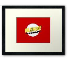 Bazinga Framed Print