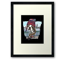 Boston Terrier Wicked Pissah Tricycle Adventure  Framed Print