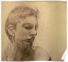 Esquisse for portrait of Clara #4 Poster