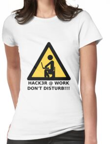Hacker at work Womens Fitted T-Shirt