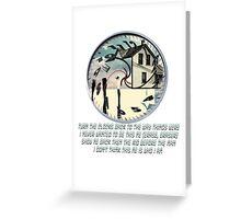 Coheed and Cambria- Eraser lyrics Design Greeting Card