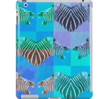 Be heard zebra shouting in blue iPad Case/Skin