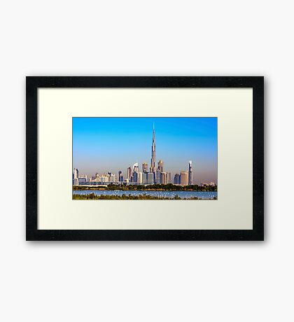 Downtown Dubai, United Arab Emirates  Framed Print