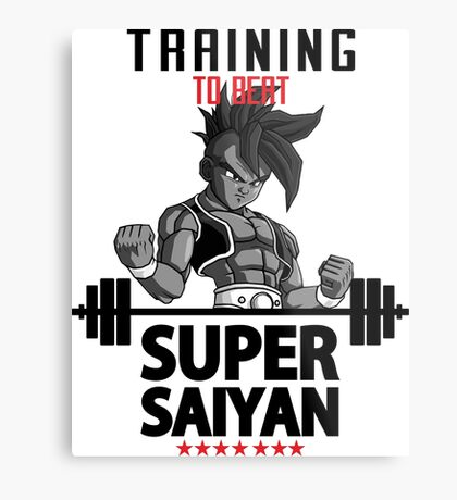 training super saiyan Metal Print