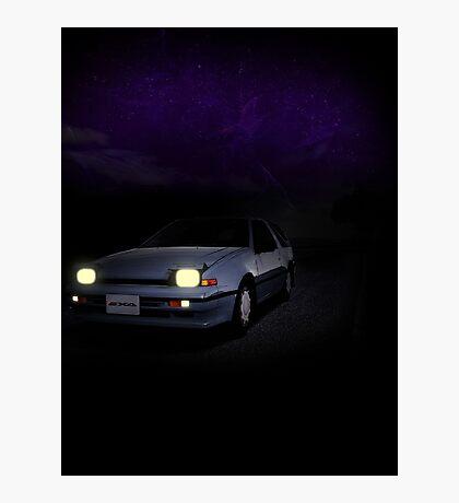 Night Nissan N13 EXA Photographic Print