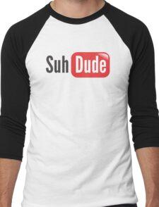 suhdude Men's Baseball ¾ T-Shirt