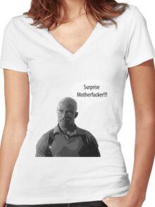 Surprise Motherfucker Women's Fitted V-Neck T-Shirt