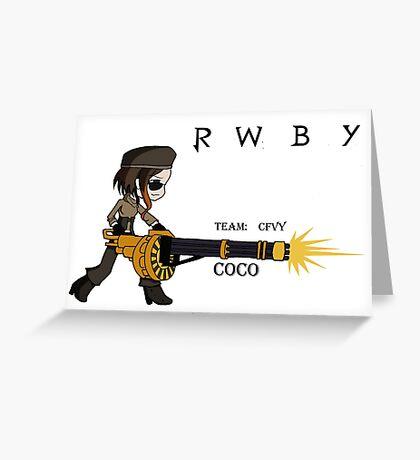COCO Form RWBY Greeting Card
