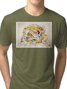 Fancy Gyarados Tri-blend T-Shirt