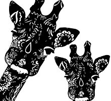 Zentangle Giraffes by Jaimee-Ann Driver