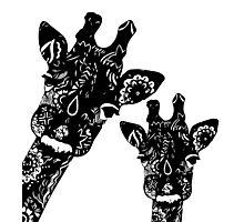 Zentangle Giraffes Photographic Print