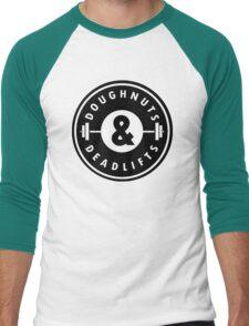 Doughnuts Deadlifts  Men's Baseball ¾ T-Shirt