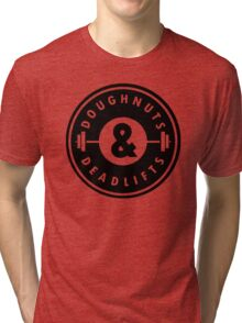 Doughnuts Deadlifts  Tri-blend T-Shirt