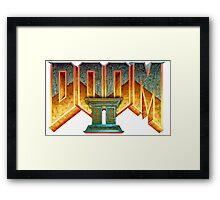 Doom II Hell On Earth Logo PC 1994 FPS  Framed Print