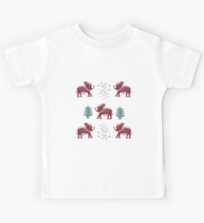 Elephants, trees and flowers. Kids Tee