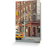 Ave B & E 7th St In New York City US  Greeting Card