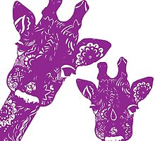 Purple Giraffes by Jaimee-Ann Driver