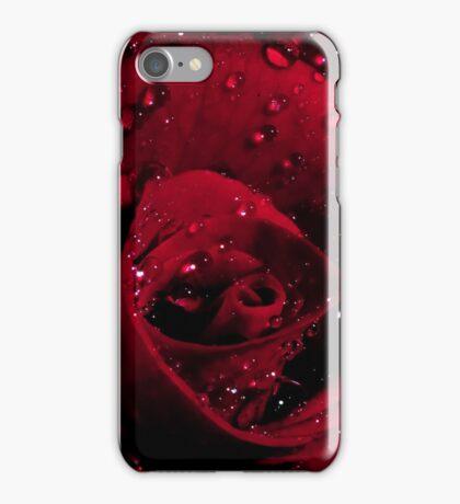 Red Rose Macro iPhone Case/Skin