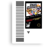 Nes Cartridge: Super Smash Bros Canvas Print