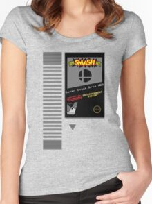 Nes Cartridge: Super Smash Bros Women's Fitted Scoop T-Shirt