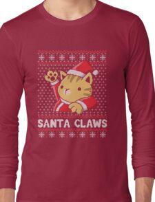 Cat Santa Claws Long Sleeve T-Shirt