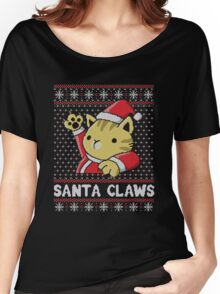 Cat Santa Claws Women's Relaxed Fit T-Shirt