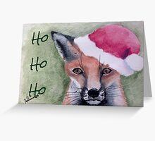 Ho Ho Ho Fox Greeting Card