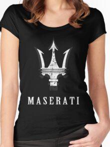MASERATI Women's Fitted Scoop T-Shirt