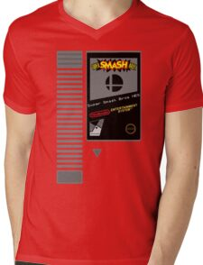 Nes Cartridge: Super Smash Bros Mens V-Neck T-Shirt
