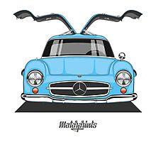 Mercedes-Benz 300 SL (W198) (light blue) Photographic Print