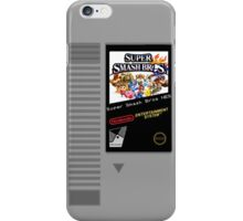 Nes Cartridge: Super Smash Bros iPhone Case/Skin