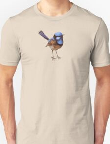 Blue Wrens, Russet and White Unisex T-Shirt