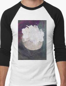 Abstract white volcano Men's Baseball ¾ T-Shirt