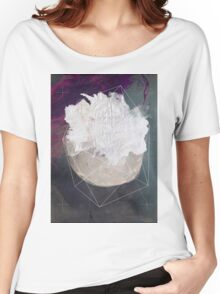 Abstract white volcano Women's Relaxed Fit T-Shirt