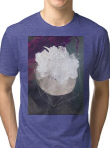 Abstract white volcano Tri-blend T-Shirt