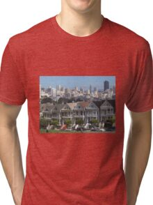 """Painted Ladies"" - San Francisco, California Tri-blend T-Shirt"
