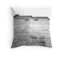 waiting for her locks to fall Throw Pillow