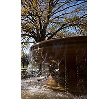 Water Curtains and Autumn Sunshine Photographic Print