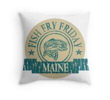 MAINE FISH FRY Throw Pillow