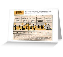 Daylight Exposure Table Greeting Card