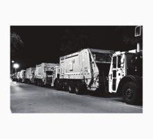 DSNY Garbage Trucks Parked Photo #3 Kids Tee