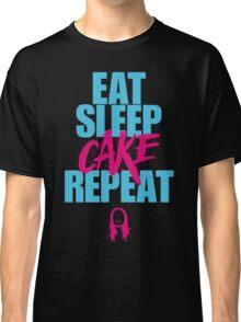 Steve Aoki - eat sleep cake repeat - Blue - Pink Classic T-Shirt