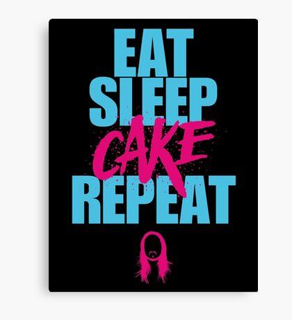 Steve Aoki - eat sleep cake repeat - Blue - Pink Canvas Print