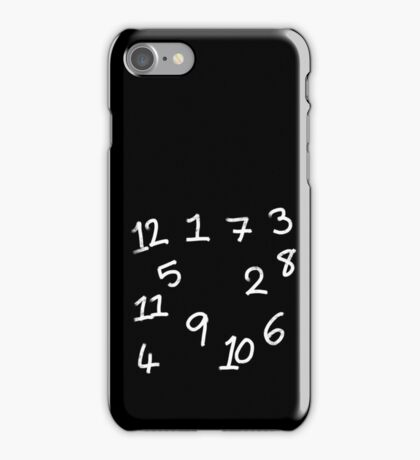 Chalk Board Numbers iPhone Case/Skin
