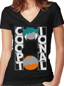 The Co-optional Podcast Women's Fitted V-Neck T-Shirt