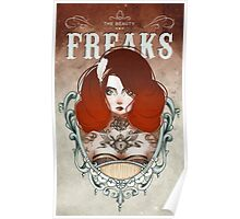 The Beauty Freaks - The Tattooed Poster