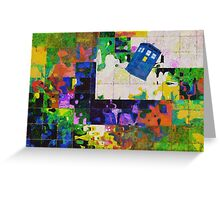 Tardis (abstract-informel-tachisme) Greeting Card