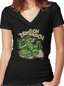 Dragon Wagon Women's Fitted V-Neck T-Shirt