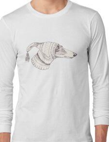 Winter Whippet  Long Sleeve T-Shirt